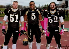 Former Churchill Bulldogs Connor Gudziunas (from left), Evan Gill and Thomas Miles are headed to the playoffs with the U of M Bisons this weekend.