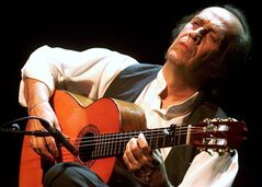 Spanish guitar player Paco de Lucia performs on in Montreux, Switzerland, July 12, 2001. THE CANADIAN PRESS/AP, KEYSTONE/Laurent Gillieron