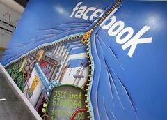 This Feb. 8, 2012 photo shows a mural at Facebook headquarters in Menlo Park, Calif. THE CANADIAN PRESS/AP, Paul Sakuma