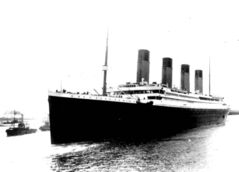 The Titanic leaves Southampton, England on her maiden voyage. When it sank, an unusually high percentage of women and children survived.