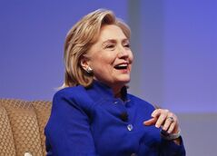 Former Secretary of State Hillary Rodham Clinton speaks during a question and answer session at the BIO International Convention Wednesday, June 25, 2014, in San Diego. Clinton has been on tour promoting her book,