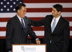 Paul Ryan (right) and  Mitt Romney