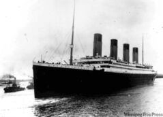 In this April 10, 1912 black-and-white file photo, The British liner Titanic sails out of Southampton, England, at the start of its doomed voyage.