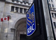 A Royal Bank of Canada sign is shown in Toronto's financial district in downtown Toronto in this Feb. 26, 2009 photo. THE CANADIAN PRESS/Nathan Denette