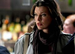 Chop chopped: Milla Jovovich shoots scenes for Faces in the Crowd at the 'Black Narcissus Restaurant,' aka Chop.