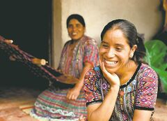 Rosa Coj Bocel got a microloan to start a weaving business with her mother in Pena Blanca, Guatemala. Four U.S. college students spent a summer living in Pena Blanca on $1 a day per person to learn about issues related to rural poverty, then made a film about their experiences.