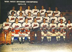 Copy of a photo of the very first WHA Winnipeg Jets - 1972 - 1973  ( 73 )  Credit Ted Foreman Collection  NHL Winnipeg jets return - Winnipeg Free Press book project ( recovered pictures input after june 7 2011 can be found using keyword newjets2 , all pictures recovered   for project can be found in merlin using are slugged newjets  , finding most  NHL recovered  used kgjets ) photos cannot be reproduced without written permission from the Wpg Free Press and must be credited beside photo using Winnipeg Free Press Name and  photographer name  exterior ( KEN GIGLIOTTI  / WINNIPEG FREE PRESS ) July 25 2011 -