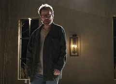 FILE - This image released by AMC shows Bryan Cranston as Walter White in a scene from the series finale of