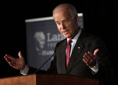 FILE - In this June 26, 2014, file photo, Vice President Joe Biden speaks on Capitol Hill in Washington. Biden is scheduled to address the National Governors Association conference in Nashville, Tenn., Friday, July 11, 2014. (AP Photo/Lauren Victoria Burke, File)