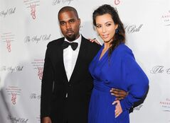 "FILE - In this Oct. 22, 2012 file photo, singer Kanye West and girlfriend Kim Kardashian attend Gabrielle's Angel Foundation 2012 Angel Ball cancer research benefit at Cipriani Wall Street in New York. West's new album ""Yeezus"" isn't as divine as he thought it would be. Though critically-revered, it doesn't have any big singles, anthemic hooks or charismatic lyrics like his past efforts. (Photo by Evan Agostini/Invision/AP, File"