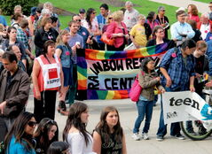 Rainbow Resource Centre hosted the rally.