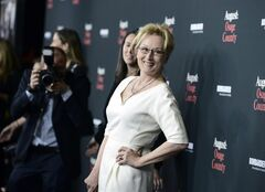 Actress Meryl Streep arrives at the premiere of the feature film