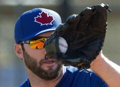 Toronto Blue Jays pitcher Brandon Morrow in Dunedin, Fla., on Monday, February 17, 2014. THE CANADIAN PRESS/Frank Gunn