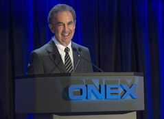 Onex Corporation Chairman of the Board, President and Chief Executive Officer Gerald Schwartz speaks in Toronto on May 10, 2012. THE CANADIAN PRESS/Nathan Denette