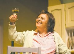 Nicola Cavendish as Shirley Valentine.