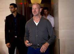 Lululemon Athletica Inc. founder Chip Wilson arrives for the company's annual general meeting in Vancouver, B.C., Wednesday, June, 11, 2014. THE CANADIAN PRESS/Jonathan Hayward