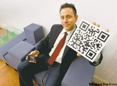 Kyle Romaniuk, who has used QR codes a couple of times for marketing purposes, says not everyone is familiar with them.