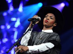 Singer Lauryn Hill performs at Amnesty International's