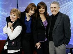 Bonnie Franklin (left) is seen in a  Feb. 26, 2008 with MacKenzie Phillips, Valerie Bertinelli and Pat Harrington of the 1970's television sitcom 'One Day at a Time,' on the NBC 'Today' television program in New York.
