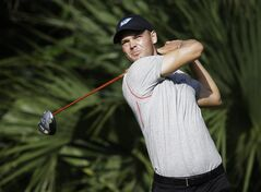 Martin Kaymer of Germany, hits from the fifth tee during the second round of The Players championship golf tournament at TPC Sawgrass, Friday, May 9, 2014 in Ponte Vedra Beach, Fla. (AP Photo/Lynne Sladky)