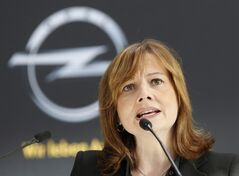 New CEO of General Motors Mary Barra speaks in Ruesselsheim, Germany, Monday, Jan. 27, 2014. THE CANADIAN PRESS/AP, Michael Probst