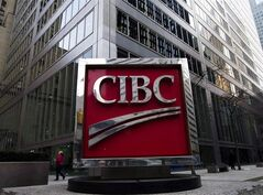 The CIBC sign is pictured in Toronto's financial district on Feb. 26, 2009. THE CANADIAN PRESS/Nathan Denette