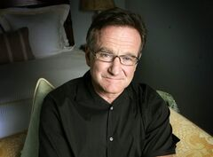 FILE - This June 15, 2007 file photo shows actor and comedian Robin Williams posing to promote his film,