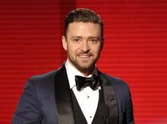 FILE - In this Nov. 24, 2013 file photo, Justin Timberlake accepts the award for favorite album - soul/R&B for