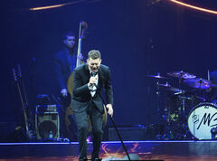 Michael Buble performs at the MTS Centre Thursday night.