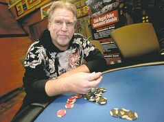 Phil Hossack / Winnipeg Free Press Poker player Ken Hunter says the Manitoba Lotteries Poker Open is 'a lot of fun.'