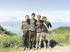 From left, Sean Leonard, Zach Ingrasci, Chris Temple and Ryan Christoffersen in Pena Blanca, Guatemala.