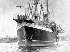 This is an undated file photo of the cable vessel CS Mackay-Bennett, mostly likely taken in 1884. Cable vessels, laying undersea communications cables, played a major role in the recovery of Titanic victims, 100 years ago. The Mackay-Bennett was the first ship dispatched by the White Star Line on April 17, 1912, to start the recovery process. THE CANADIAN PRESS/Maritime Museum of the Atlantic