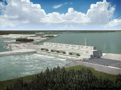 Keeyask dam (pictured in artist's rendering): women from Tataskweyak Cree Nation will blockade the road into the dam site.
