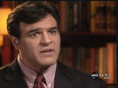 John Kiriakou interviewed on ABC's World News in 2007. Kiriakou, who told reporters he participated in the interrogation of terrorist Abu Zubaydah was charged with leaking classified secrets about CIA operatives and other information to reporters.