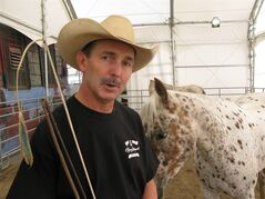 Hollywood horse trainer Bill Lawrence worked on War Horse and is training horses for a competition at the Calgary Stampede. THE CANADIAN PRESS/Bill Graveland
