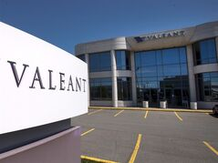 The head office and logo of Valeant Pharmaceutical is pictured in Montreal on May 27, 2013. THE CANADIAN PRESS/Ryan Remiorz