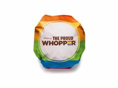"This undated image provided by Burger King shows the Proud Whopper. Once opened up, a message inside the wrapper states, ""We are all the same inside."" (AP Photo/Burger King)"