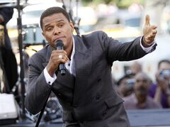 FILE - This July 8, 2009 file photo shows singer Maxwell performing on