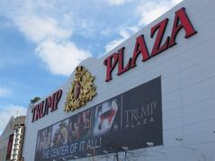 This Dec. 9, 2011 file photo shows the exterior of Trump Plaza Hotel and Casino in Atlantic City N.J. The casino's parent company said on Saturday July 12, 2014 that it expects to close Trump Plaza on Sept. 16. It would be the third Atlantic City casino to shut down this year.(AP Photo/Wayne Parry, FILE)