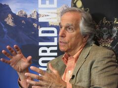 Actor Henry Winkler reflects on his career and growing up dyslexic in an interview at the Banff World Media Festival in Banff, Alta., Monday, June 9, 2014. THE CANADIAN PRESS/Bill Graveland