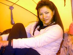 Shriya Shah-Klorfine, of Toronto, is shown in a Facebook picture from Everest's base camp, date May 12, 2012. The Canadian woman has died pursuing her dream of scaling Mount Everest. THE CANADIAN PRESS/HO