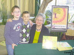 Erna Michalow, with her granchildren, Eric Allan Francis and Thomas Kiesman.