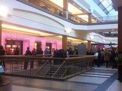 People lined up outside the new Victoria's Secret store in Polo Park, awaiting the grand opening at 10 a.m. today.
