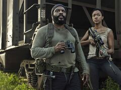 Chad Coleman (left) as Tyreese and Sonequa Martin-Green as Sasha in AMC's