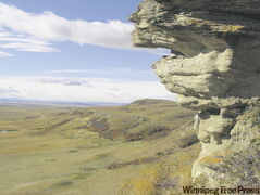The killing cliff at Head-Smashed-In Buffalo Jump, Alta., located in the foothills of the Rocky Mountains.