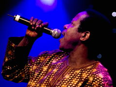 King Sunny Ade in concert July 5 at in Montreal during the Jazz Festival.