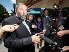 NDP Leader Thomas Mulcair's flood tour was vetoed at the last minute.