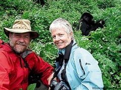 Tom Feuchtwanger and Janet Wilson went gorilla tracking in Rwanda.