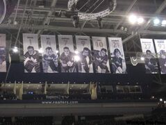 Players from the glory days of the Toronto Maple Leafs look down on the most popular seats in the NHL.