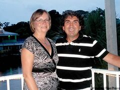John and Brenda Mohan in Florida last May during their trip to the U.S.